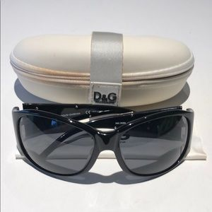 Dolce & Gabbana black & chrome women's sunglasses